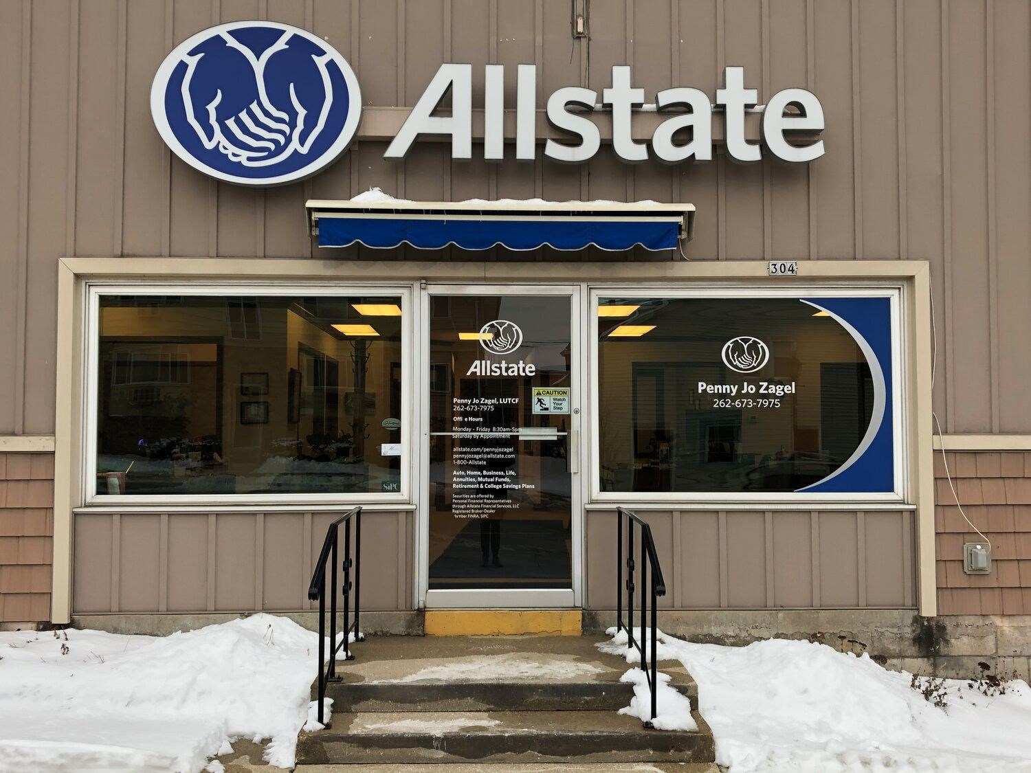 Front of an Allstate Insurance Office